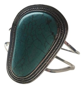 Anthropologie Navajo Chunky Turquoise Cuff Bracelet