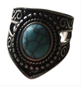 Anthropologie Sterling turquoise ring