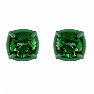 Swarovski Rosie assoulin green stud earrings