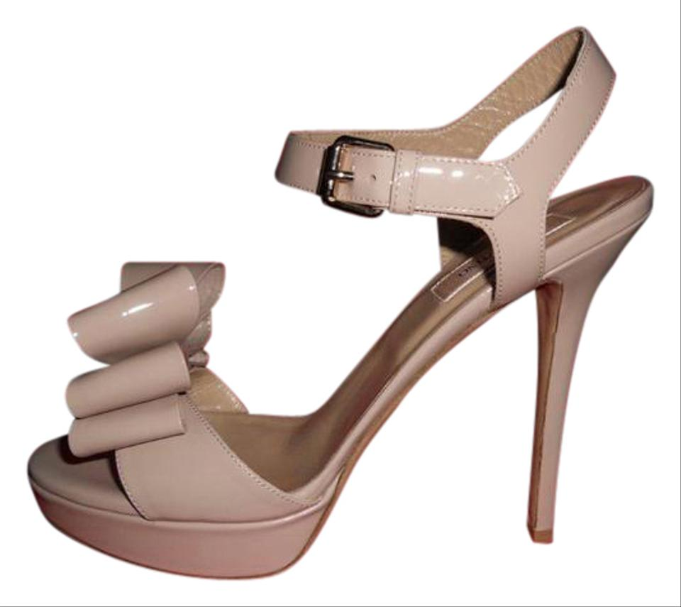 132393638eca Valentino Nude Patent Leather Bow Ankle Strap Platform Heels Sandals. Size   EU 40.5 (Approx. US 10.5) Regular (M ...