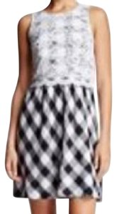 Kensie short dress Black White Plaid Lace on Tradesy