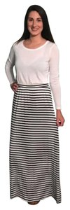 MM Couture Maxi Skirt Black / White