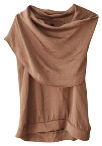 Other Silk Cowl Neck Top Pewter