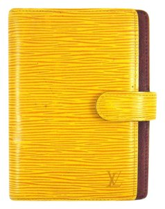 Louis Vuitton Yellow Epi Leather Agenda PM Day Planner Cover Spain