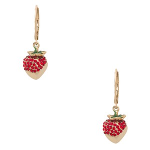 Kate Spade kate Spade outside the box strawberry gold dip earrings