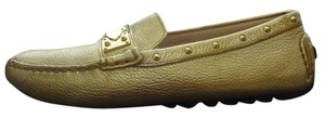 Louis Vuitton Loafers Gold Flats