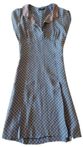 Lyell short dress blue Polka Dot Print Silk Peter Pan Collar on Tradesy
