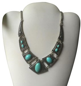 Anthropologie Tribal Collar turquoise Necklace