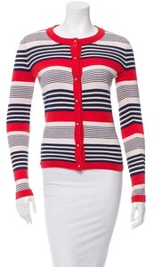 Kate Spade Striped Cotton Longsleeve Round Cardigan