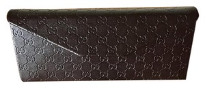 Gucci Leather Collapsible Sunglasses Case + Microfiber Cleaner