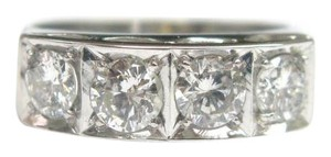 Other Fine 4-Diamond White Gold Band Ring 1.52CT