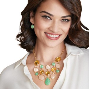 Avon Fashions Tropical Breeze Statement Necklace and Earring Set