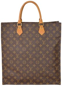 Louis Vuitton Monogram Sac Plat Tote in Brown