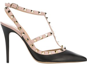 Valentino Rockstud Nude Gray black Pumps