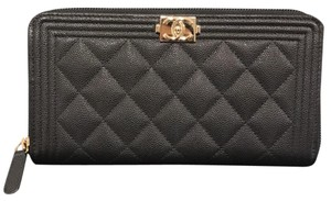 Chanel Le boy Caviar Large wallet NEW!