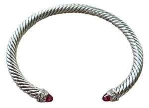 David Yurman Women's Pink tourmaline Cable Classics Bracelet with Pave