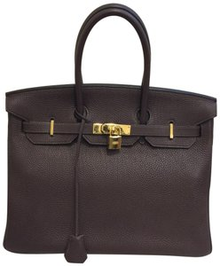 7a8957e13a06 Hermès Birkin 35 Birkin 30 Kelly Birkin Birkin Togo Satchel in Chocolate  brown