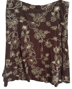 Other Skirt Brown with white pattern