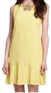 Anthropologie short dress yellow on Tradesy