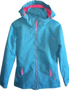 Other Windbreaker Surfers Hooded Turquoise and pink Jacket