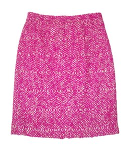 J.Crew Tweed Wool Pencil Ikat Pink Skirt