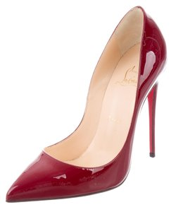 Christian Louboutin Patent Leather Pointed Toe So Kate Sole Pigalle Red Pumps