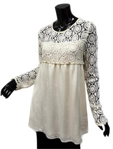 Blu Pepper Lace Romantic Boho Empire Waist Tunic