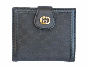Gucci Vintage Mini Monogram Framed French Compact Wallet
