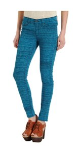 Rag & Bone Blue Tweed Print Legging Relaxed Fit Jeans