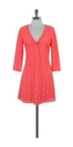 Lilly Pulitzer short dress Coral Lamora Long Sleeve Lace Tunic on Tradesy