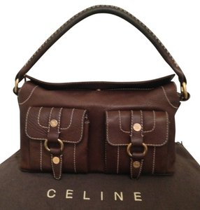 Céline Leather Brown Leather Tote Classic Hobo Shoulder Bag