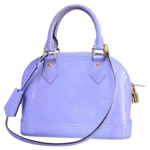 Louis Vuitton Lv Vernis Alma Bb Satchel in lilas