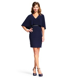 Adrianna Papell Cape Bandeau Popover Dress
