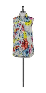 Yigal Azroul Multi Color Abstract Print Top