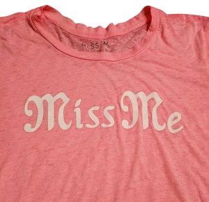 Miss Me Size M T Shirt Pink and white