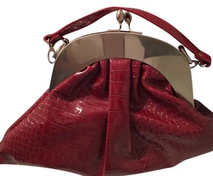 Red Snake Skin Handbag Hobo Bag