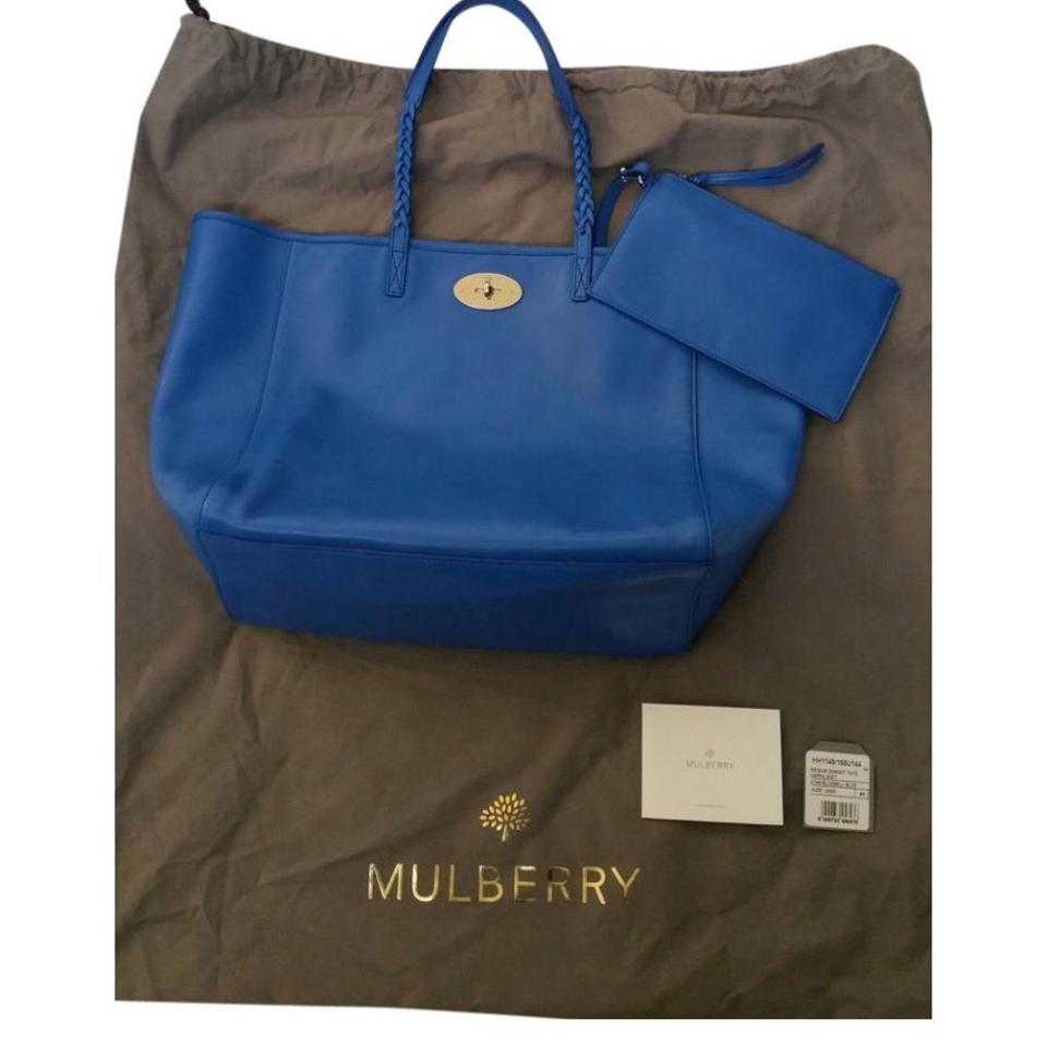 Mulberry Blue Leather Tote - Tradesy 1c89668f49d13