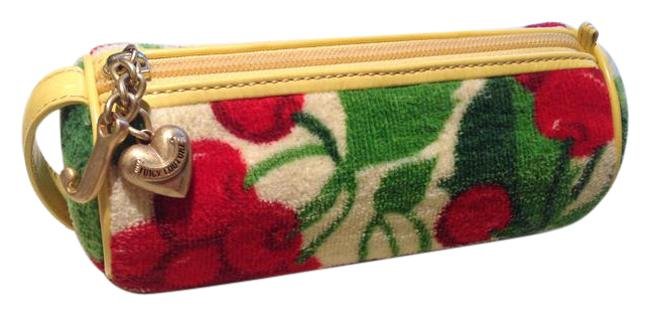 Item - Yellow Red & Green Terry Cloth Cosmetic Bag