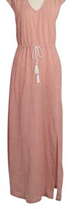Red and White Maxi Dress by J.Crew