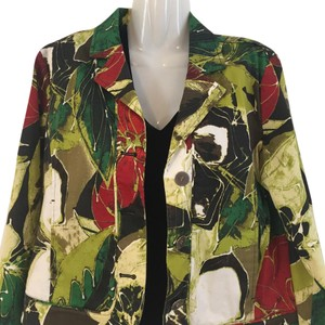 Chico's green Red White Jacket
