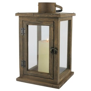 Large Rustic Wood Lanterns