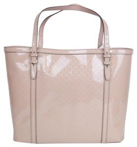 Gucci Nice Patent Leather Tote in Pink