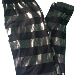 Charlotte Russe black and silver Leggings