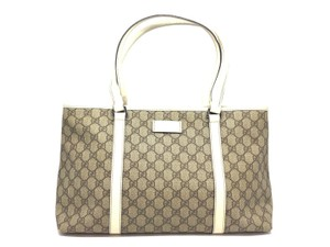 Gucci Tote in Brown/Off White