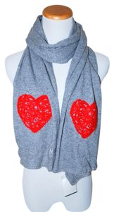 Moschino NWT MOSCHINO ITALY GREY WOOL WARM SOFT RED HEART