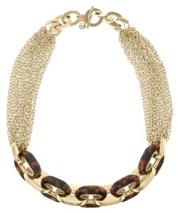 Michael Kors NWT Multi Chain Tortoise Toggle Necklace MKJ3086710
