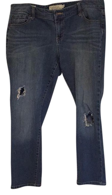 Item - Denim Distressed Boyfriend Straight Leg Jeans Size 16 (XL, Plus 0x)