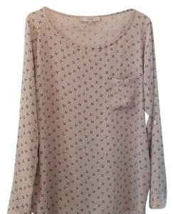 Ann Taylor LOFT Top lite pink with black accent