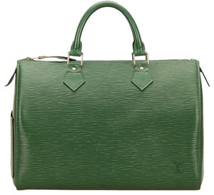 Louis Vuitton 25 Epi Speedy 25 Epi Speedy 25 Green Speedy Satchel in Borneo Green