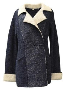 Margaret O'Leary Soft Knit Textured Deep sea Blue Jacket